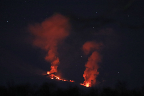 Побочный прорыв Ключевского вулкана (13.03.21)