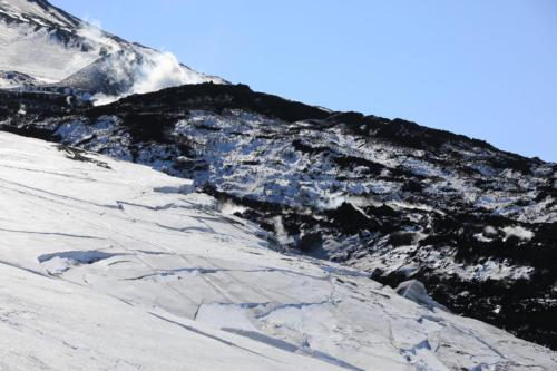 Трешины на леднике (03.04.21)